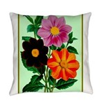 Colorful Flowers Vintage Poster Print Everyday Pil