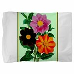 Colorful Flowers Vintage Poster Print Pillow Sham