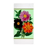 Colorful Flowers Vintage Poster Print Beach Towel