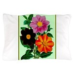 Colorful Flowers Vintage Poster Print Pillow Case