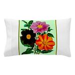 Colorful Flowers Vintage Poster Print Pillow Case