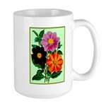 Colorful Flowers Vintage Poster Print Mugs