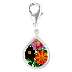 Colorful Flowers Vintage Poster Print Charms