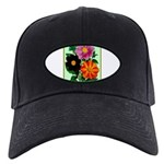 Colorful Flowers Vintage Poster Print Baseball Hat