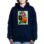 Colorful Flowers Vintage Poster Print Women's Hood