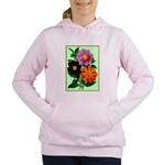 Colorful Flowers Vintage Poster Print Women's Hood