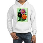 Colorful Flowers Vintage Poster Print Hoodie Sweat