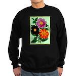 Colorful Flowers Vintage Poster Print Sweatshirt