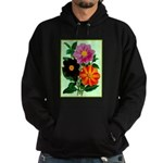 Colorful Flowers Vintage Poster Print Hoodie