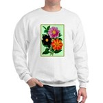 Colorful Flowers Vintage Poster Print Sweater