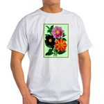 Colorful Flowers Vintage Poster Print T-Shirt