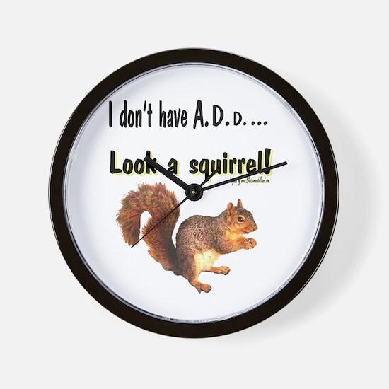 ADD Squirrel Wall Clock