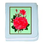 Red, Red Roses Vintage Print baby blanket