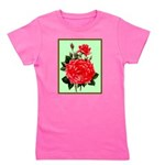 Red, Red Roses Vintage Print Girl's Tee