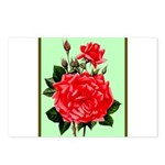 Red, Red Roses Vintage Print Postcards (Package of