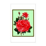 Red, Red Roses Vintage Print Poster Print