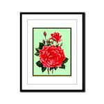Red, Red Roses Vintage Print Framed Panel Print