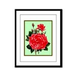 Red, Red Roses Vintage Print Framed Panel Print