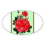 Red, Red Roses Vintage Print Sticker