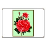 Red, Red Roses Vintage Print Banner