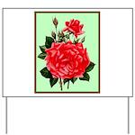 Red, Red Roses Vintage Print Yard Sign