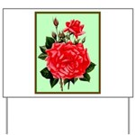 Red, Red Roses Vintage Print Yard Sign