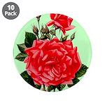 Red, Red Roses Vintage Print 3.5
