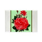 Red, Red Roses Vintage Print Magnets