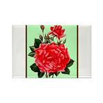 Red, Red Roses Vintage Print Magnets