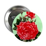"""Red, Red Roses Vintage Print 2.25"""" Button (100 pac"""