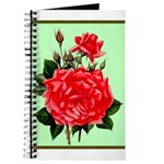 Red, Red Roses Vintage Print Journal