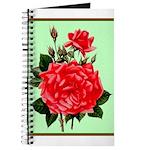 Red, Red Roses Vintage Print Journal