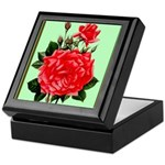 Red, Red Roses Vintage Print Keepsake Box