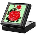 Red, Red Roses Vintage Print Keepsake Box