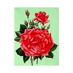 Red, Red Roses Vintage Print Twin Duvet