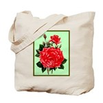 Red, Red Roses Vintage Print Tote Bag