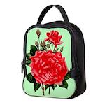 Red, Red Roses Vintage Print Neoprene Lunch Bag