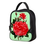 Red, Red Roses Vintage Print Neoprene Lunch Bag