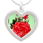 Red, Red Roses Vintage Print Necklaces