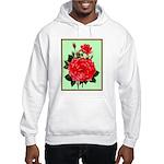 Red, Red Roses Vintage Print Hoodie Sweatshirt