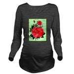 Red, Red Roses Vintage Print Long Sleeve Maternity
