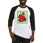 Red, Red Roses Vintage Print Baseball Jersey