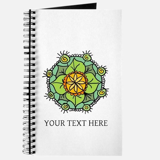 Floral mandala zen logo Journal