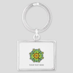 Floral Art Mandala Zen Logo Custom Keychains