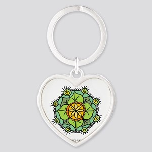 Floral mandala zen logo Keychains