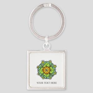 Floral Mandala Zen Logo Keychain Gift Keychains