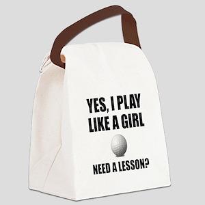 Like A Girl Golf Canvas Lunch Bag