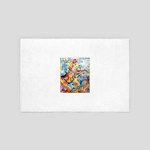 Sea Horse! Fantasy art! 4' x 6' Rug
