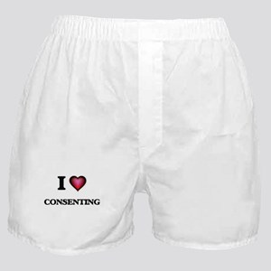 I love Consenting Boxer Shorts