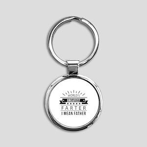 World's Greatest Farter Round Keychain